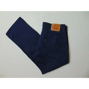 Levis 514 34 x 29 Slim Straight Blue Khaki Pants